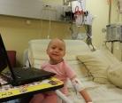Маша Маринцева накануне пересадки костного мозга