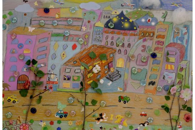Город для мультфильма «Разноцветная Москва»