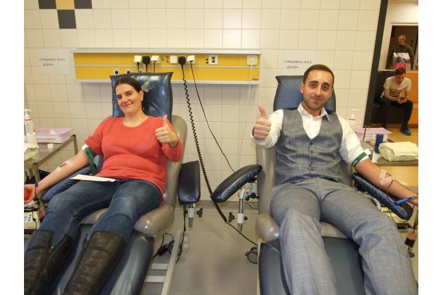 Сотрудники Госветслужбы сдали кровь для пациентов Центра детской гематологии