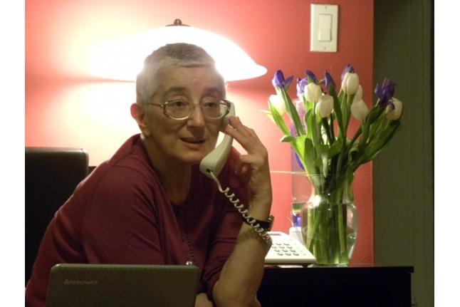 Галина Чаликова в свой последний день рождения, 1 марта 2011 года, Нью-Йорк