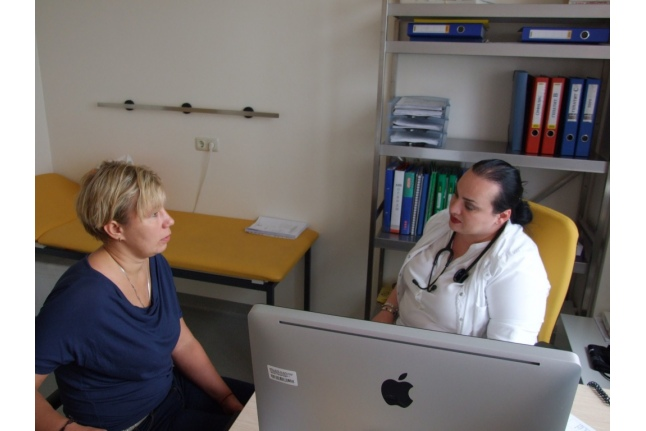 Доноры из госветслужбы в Центре детской гематологии