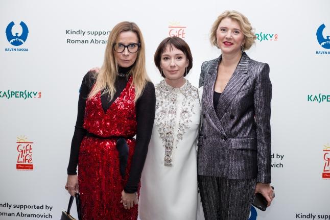 Ника Белоцерковская, Чулпан Хаматова и Любовь Галкина