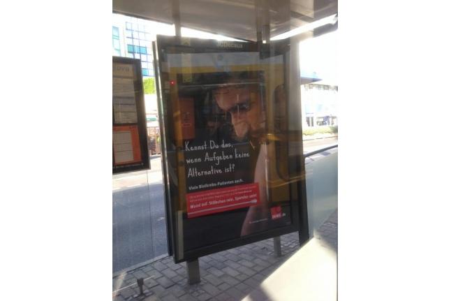 Немецкая социальная реклама — призыв стать донором стволовых клеток