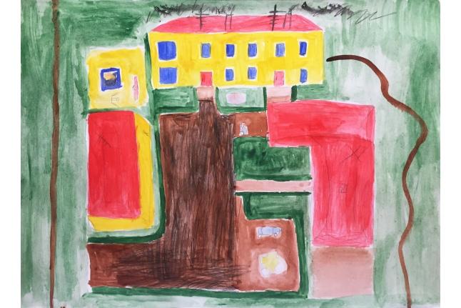 Рисунок: Вася Щеблинов. Изображение Центра детской гематологии им. Димы Рогачева