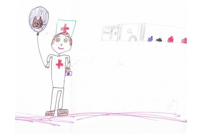 Милана Солодовник, портрет медсестры (Морозовская больница)