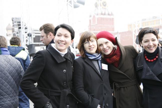 С Екатериной Чистяковой, Диной Корзун, Катериной Гордеевой