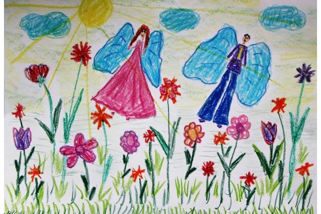 Рисунок Буровой Марии, 8 лет.