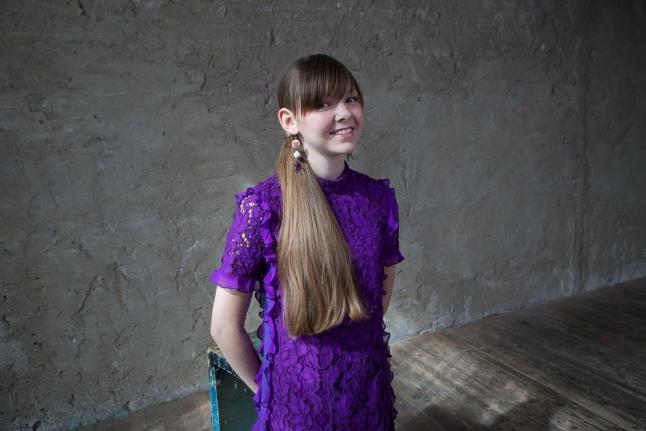 Ольга на съемках юбилейного календаря фонда