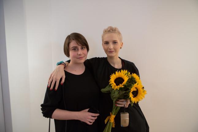 Дарина Аксенова и поэтесса Глория Горе