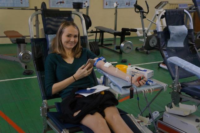 Во время донорской акции