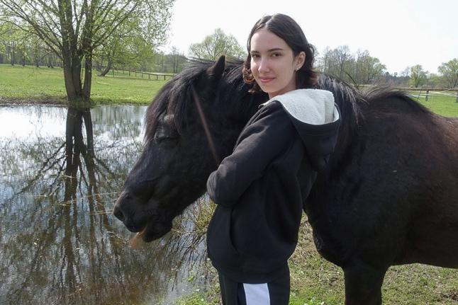 Софья Гребенченко и Зорька