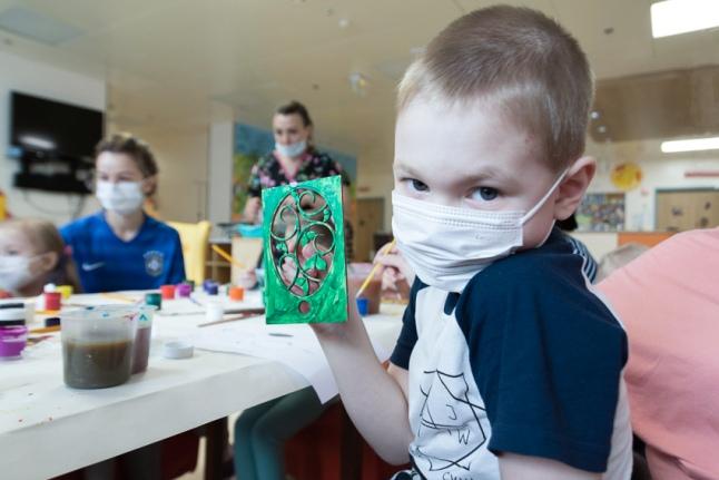 Подготовка к Пасхе идет полным ходом (Детский гематологический центр)