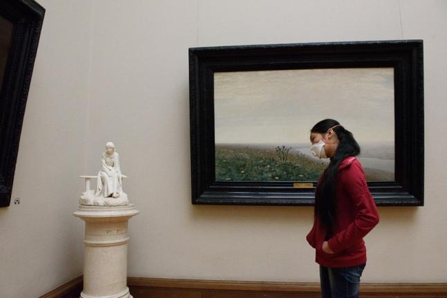 На экскурсии в Третьяковской галерее
