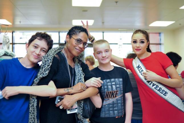 Встреча красавиц с подростками и в Центре детской гематологии