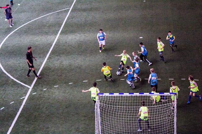 Фтубол - напряженный момент игры