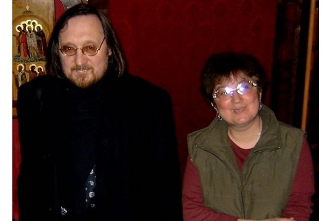 Галя и отец Георгий Чистяков, 2005 год
