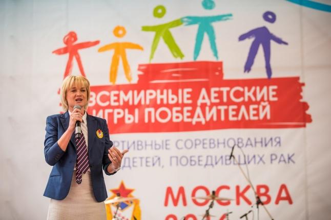 Светлана Хоркина приветствует участников Игр
