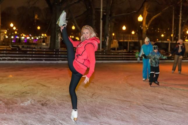 Анастасия Гребенкина на льду!