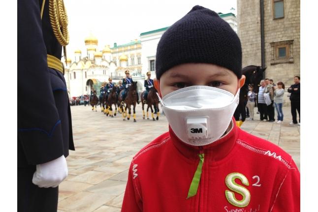 Церемониальный развод конных и пеших караулов Президентского полка в Московском Кремле