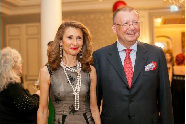 Посол России в Великобритании Яковенко А. В. с супругой