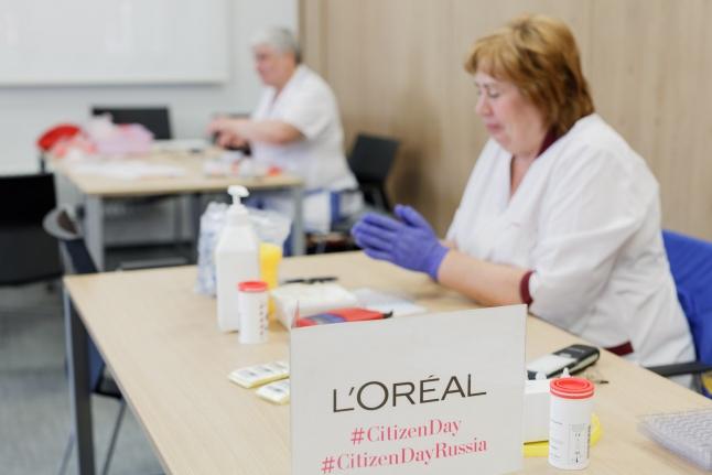 Донорская акция в L'Oréal