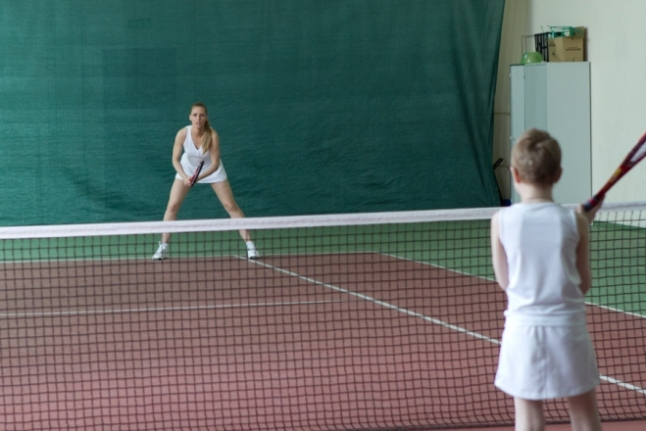 Елена и Маша на съёмках