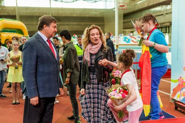 Владимир Сальников, Мария Киселева на церемонии награждения