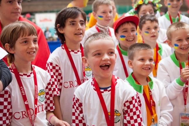 Команда Хорватии на открытии Игр