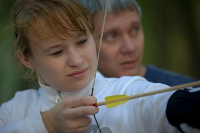 Женя Крылова и волонтёр