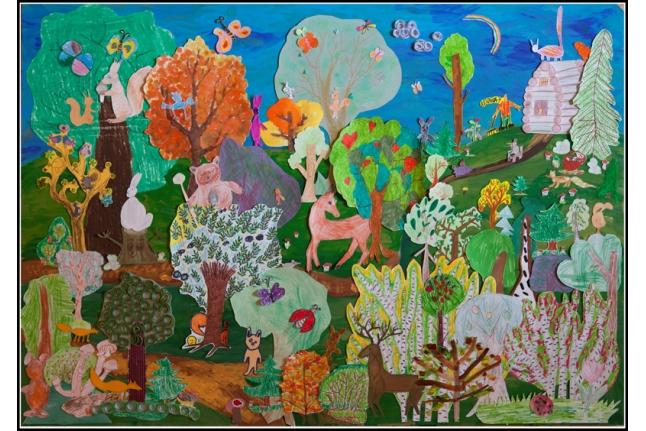 Коллаж «Дорога в Лесу» для выставки «Долгая дорога»