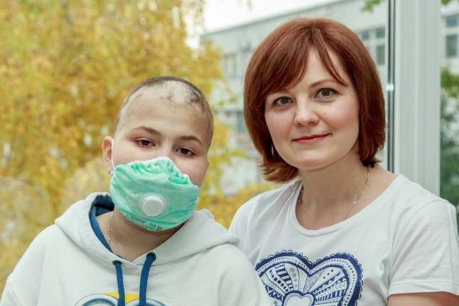 Ваня Миколюк с мамой