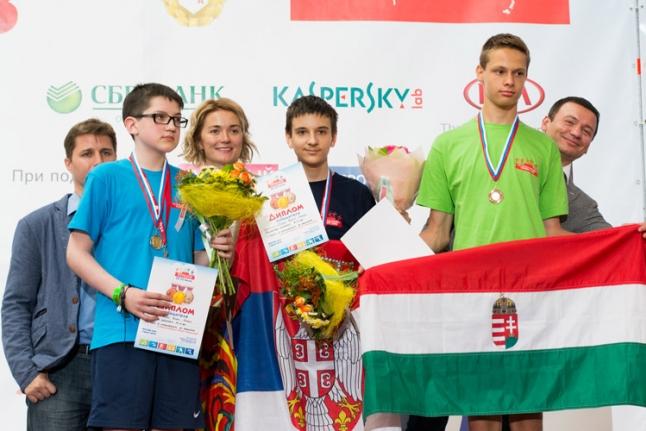 Чемпионы-шахматисты: Живоин Перович, Мегнис Ренарс, Шапи Тибор Андраш