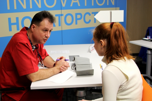 Разговор с врачом перед донцией