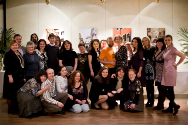 С коллегами, на празднике в честь Нового - 2010 - года