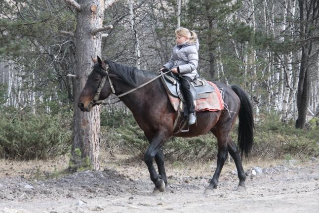 Саша катается на лошадках