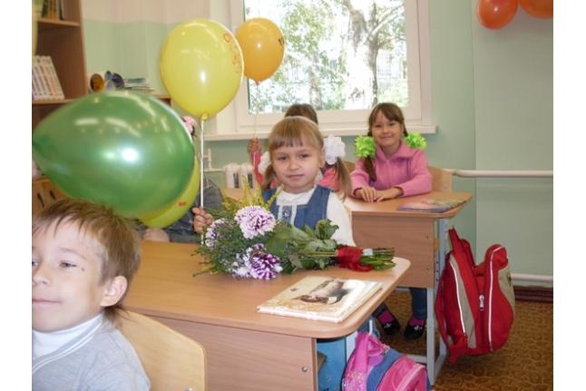 Леночка Шипицына в первом классе
