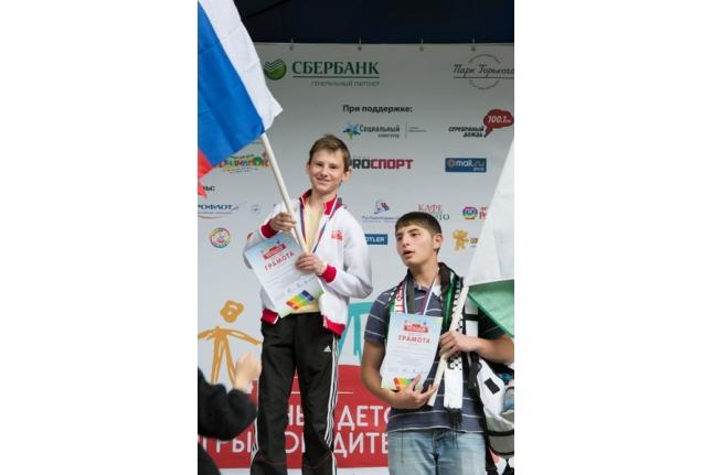 Саша Сусенин на церемонии награждения