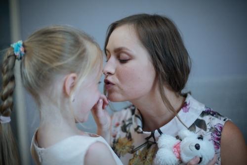 С любимой дочерью Викой