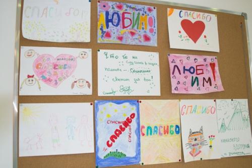На стенах ОПК: «спасибо» говорят дети, которые лечатся в больницах
