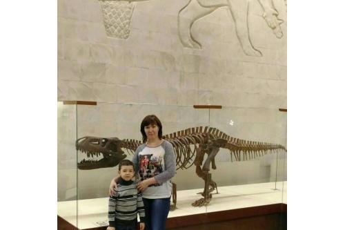 Максим вместе с мамой в Зоологическом музее