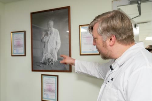 Юрий Трунин и Ларс Лекселл (на фото), шведский нейрохирург, создатель Гамма-ножа