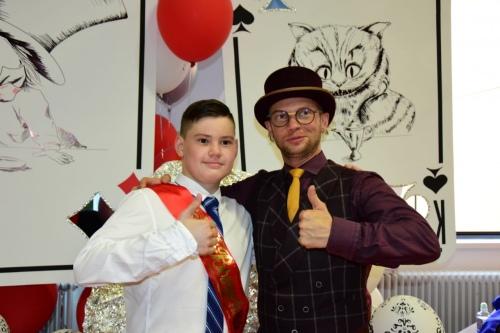 Гриша и Дмитрий Хрусталев на выпускном 2018 года, который прошел в Центре детской гематологии им. Дмитрия Рогачева