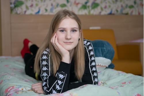 Даша Чернова в пансионате Центра детской гематологии