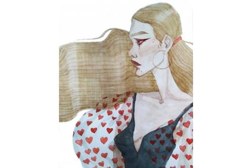 Рисунок, сделанный Катей под влиянием Луис ван Барле
