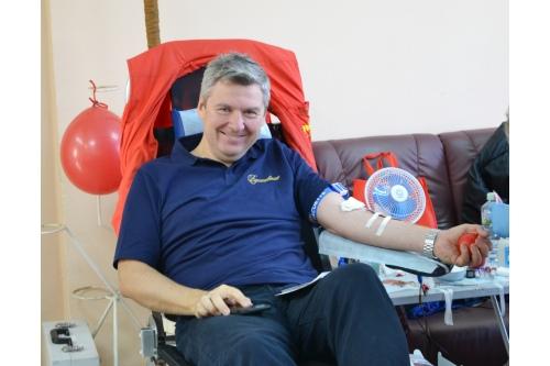 Андрей Шаляпин, теперь Почетный донор