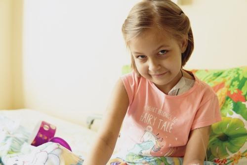 Саша мечтает стать хореографом. До болезни она успела немного позаниматься в балетной школе