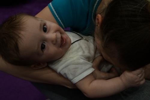 Маша с Мишенькой, которого назвала в честь Михаила Александровича Масчана
