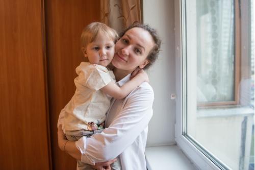 Маленькая Марта и ее мама Майя