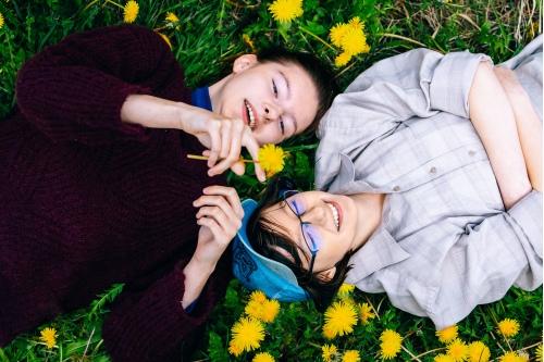 С сестрой Ульяной