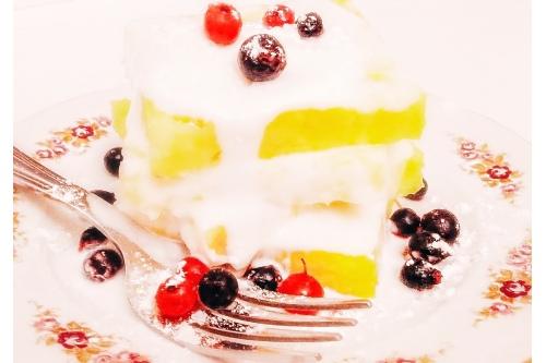 «Жареный ананас с мороженым»